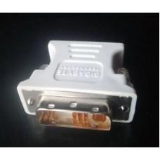 (Adaptor Nou) DVI-A (12+5 pini) la VGA Gigabyte pentru monitor analog