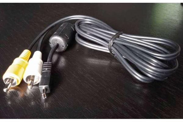 (Cablu audio-video Nou) pentru Pentax AV (I-AVC7)