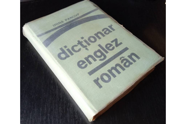 (Carte Veche) Dictionar englez-roman - Irina Panovf (1976)