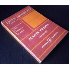 (Carte Veche) Texte comentate Lyceum - Marin Preda - Morometii (1979)