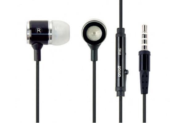 Casti In-Ear Gembird cu microfon 0.9m negre metalice control volum (Noi)