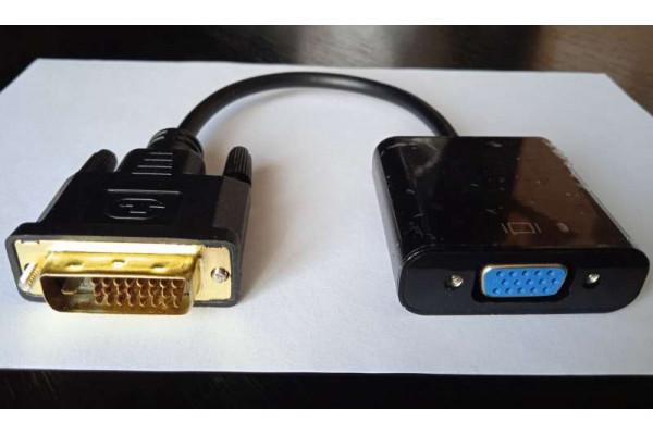 (Convertor Nou) Pentru monitor VGA (DVI-D la VGA) activ