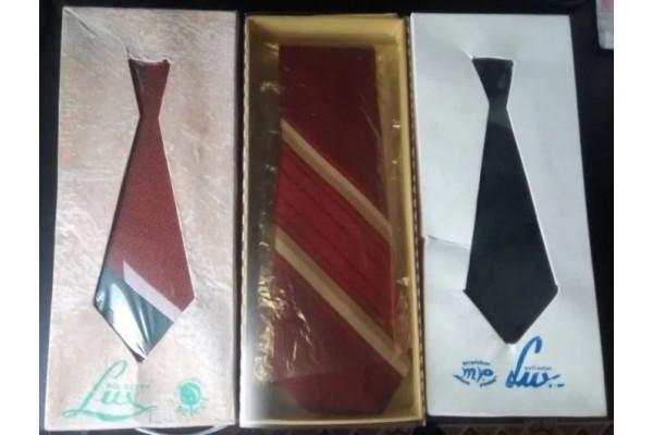 (Cravata Vintage) Lot 3 cravate din perioada comunista (anii '70)