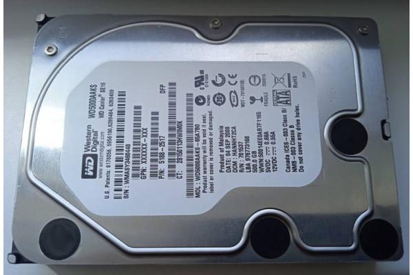 (Hard disk Second-Hand) Western Digital 500GB SATA 7200rpm 16MB WD Caviar SE16 WD5000AAKS