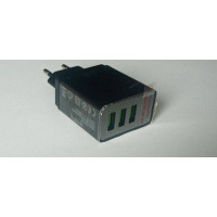 (Incarcator Nou) Ecran Led Triplu USB (Negru)