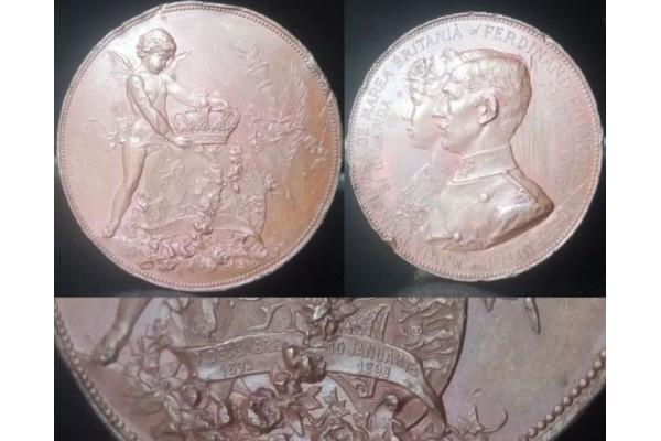 (Medalie Veche) Maria Principesa de Marea Britania si Irlanda - Ferdinand Principe mostenitor al Romaniei - 1 Decembre 1892 - 10 januarie 1893