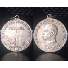 (Medalie Veche) Ministerul Instructiunii - Premiul I - M.S. Regele Carol II al Romaniei