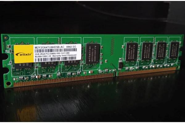 Memorie Elixir 2GB DDR2 800MHz PC2-6400U (Second-Hand)