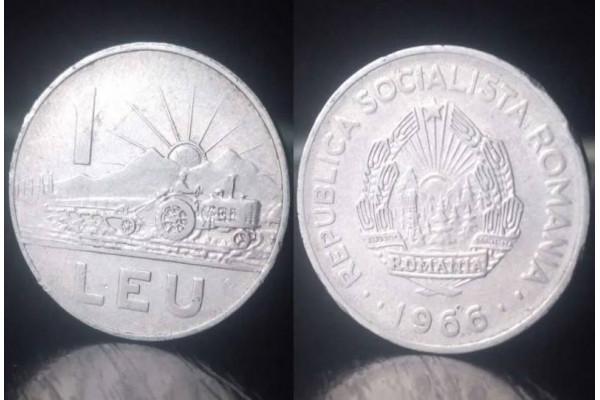 (Moneda Veche) 1 leu 1966 - RSR