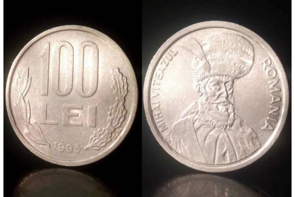 (Moneda Veche) 100 lei 1993 (Mihai Viteazul)