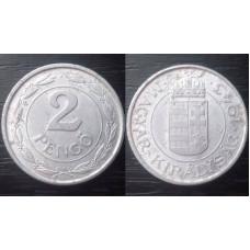 (Moneda Veche) 2 pengo 1943 Ungaria