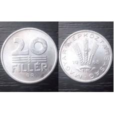 (Moneda Veche) 20 filler 1968 Ungaria