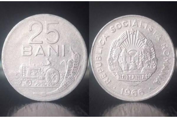 (Moneda Veche) 25 bani 1966 - RSR