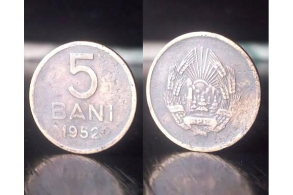 (Moneda Veche) 5 bani 1952 - RPR