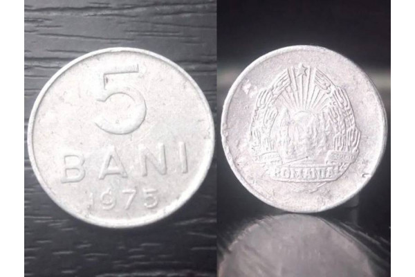 (Moneda Veche) 5 bani 1975 - RSR