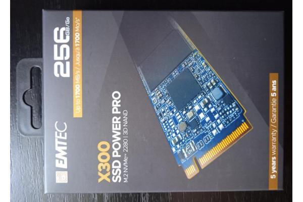 (SSD Nou) EMTEC X300 256GB SSD PowerPro M.2 PCIe NVMe 2280 3D NAND 22X80mm Gen 3.0 X4 Smart Trim