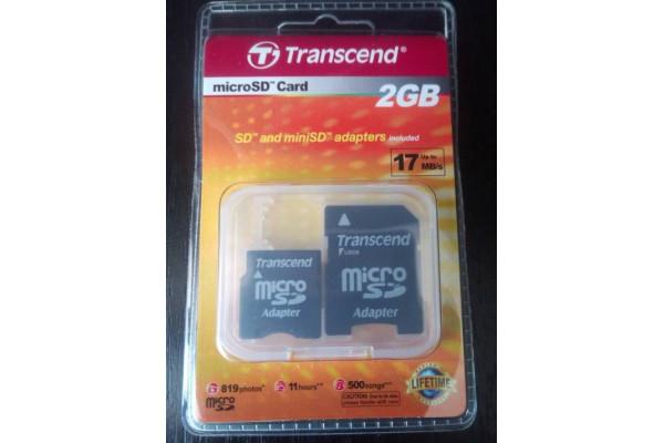 (Set Nou) Adaptoare Transcend pentru card microSD la SD / miniSD