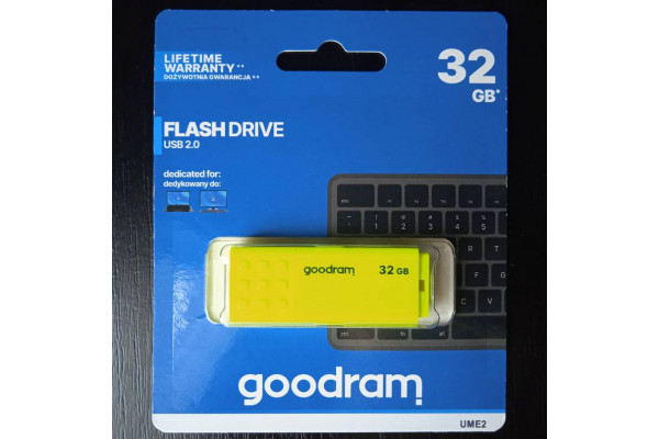 Memorie USB Goodram 32GB USB 2.0 Galben UME2 (Noua)