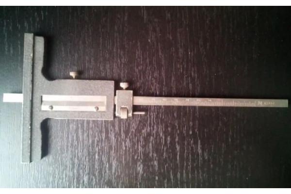 (Subler de adancime Vintage) Masurare 0-160mm Precizie 0,02mm Mecanism de avans fin (Nr. Serie ки 49854)