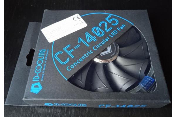 Ventilator ID-Cooling 140x140x25mm 12VDC, 0.16A LED Albastru CF-14025-B (Nou)
