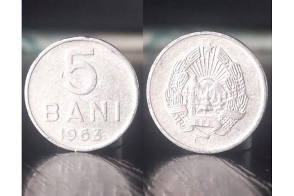 (Moneda Veche) 5 bani 1963 - RPR