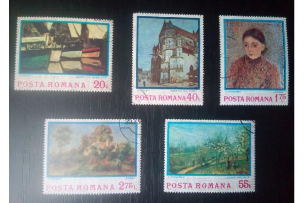 (Timbre Vechi Romania) Picturi Arta - Internationale (1974)