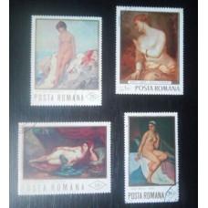 (Timbre Vechi Romania) Picturi Arta - Nuduri (1971)